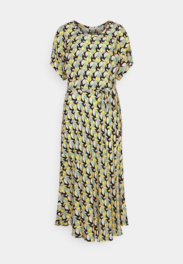 KLEID MIDI KURZARM - Korte jurk - gelb