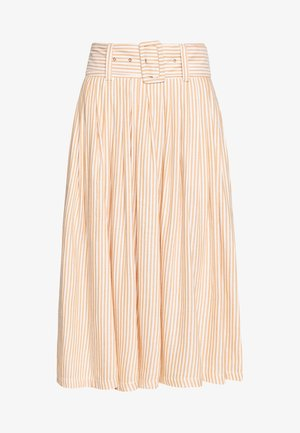 YASEMBER MIDI SKIRT ICONS - Falda de tubo - golden rod/star white