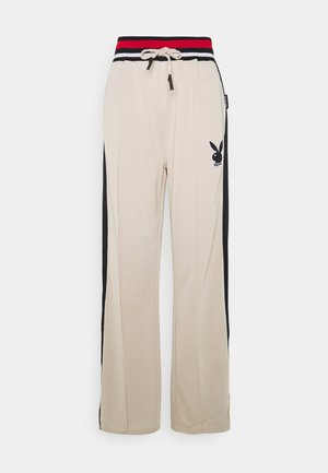 PLAYBOY VARSITY TRICOT PANTS - Tracksuit bottoms - stone
