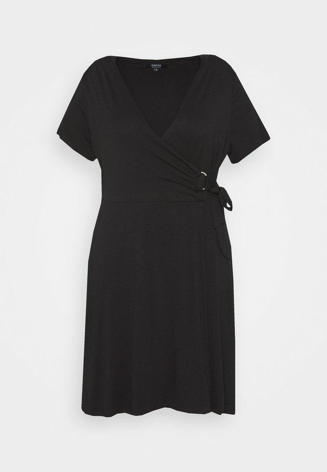 ORING DRESS - Sukienka z dżerseju - black