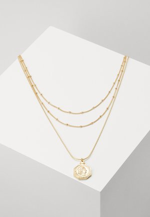 PCLIZZA COMBI NECKLACE - Smykke - gold-coloured