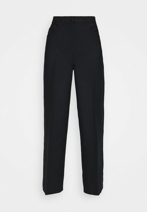 WIDE LEGGED TROUSER - Kalhoty - black dark