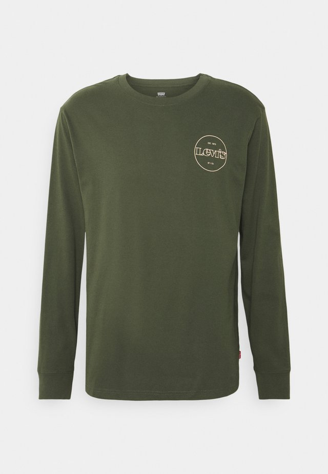 GRAPHIC TEE UNISEX - Long sleeved top - greens
