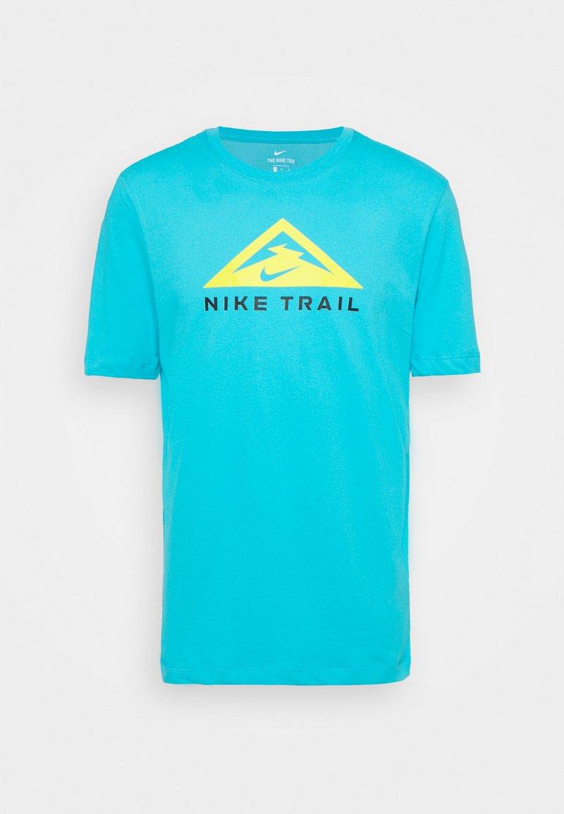 Nike Performance - TEE TRAIL - T-shirt print - chlorine blue
