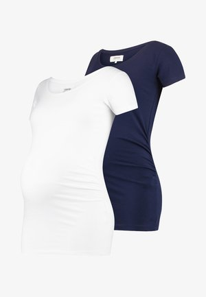 2 PACK  - Top s dlouhým rukávem - dark blue/off-white