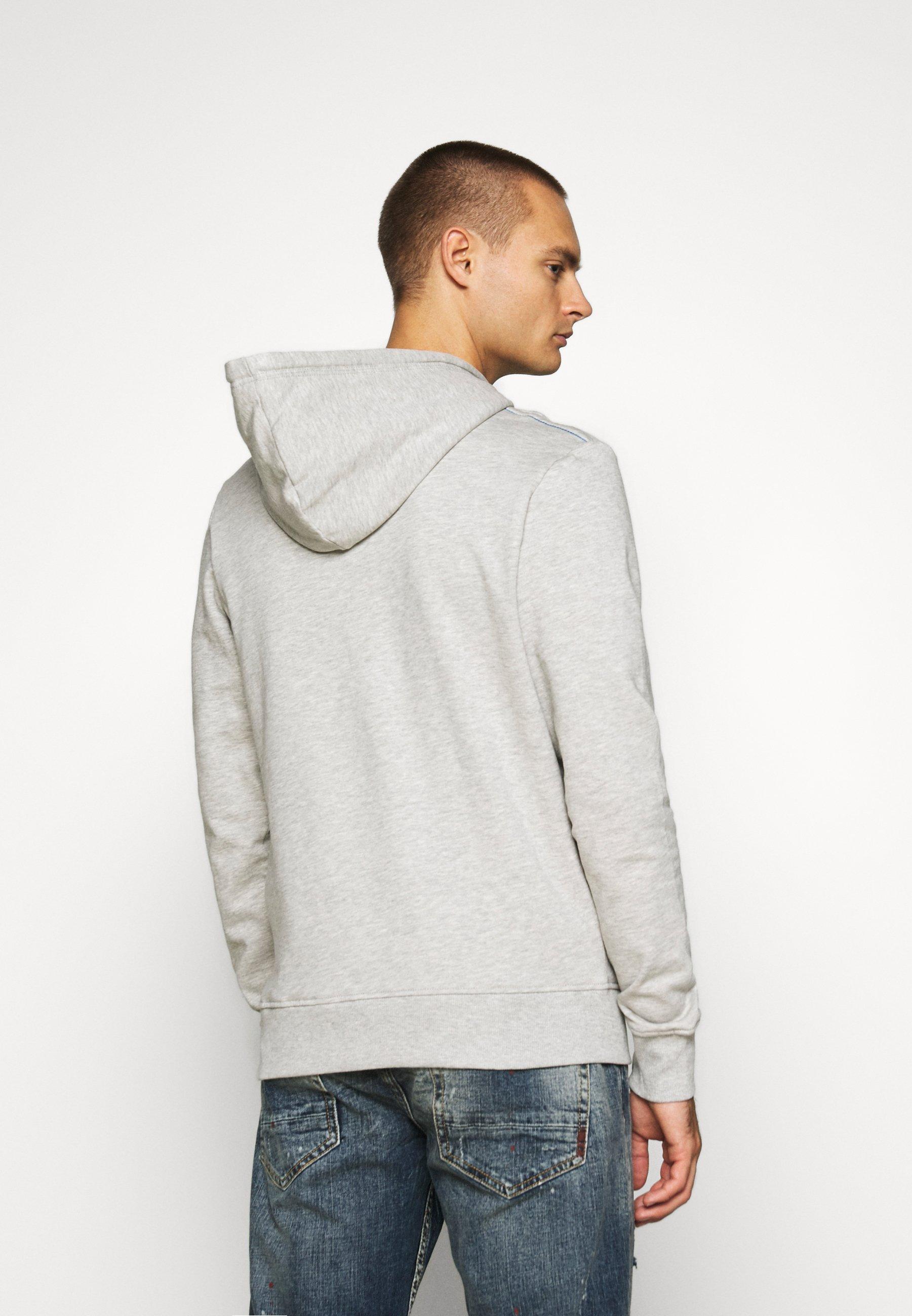 Hombre PRINT  - Jersey con capucha - cool grey/melange