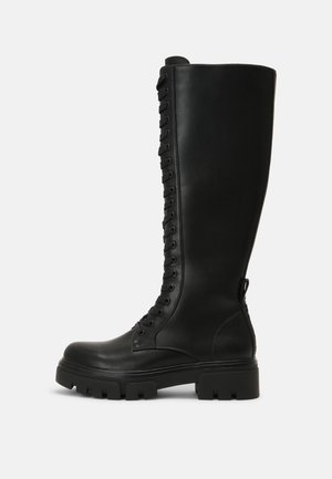 SHADOWOOD - Stivali con i lacci - black