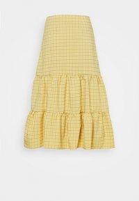 Fashion Union - PARADISO SKIRT - A-line skirt - yellow check - 1
