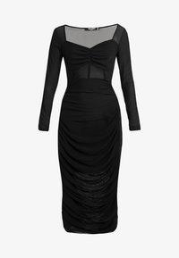 Missguided Petite - RUCHED MIDI DRESS - Vestido de cóctel - black - 4