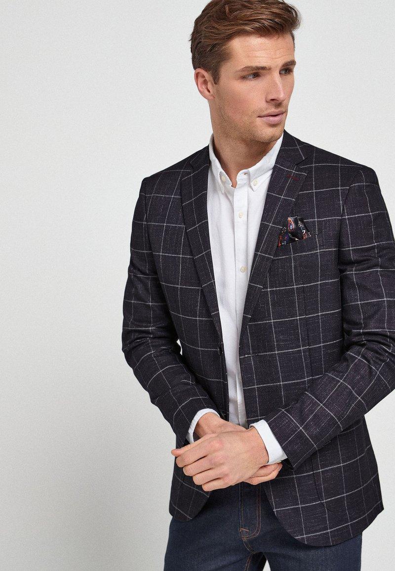 Next - WINDOWPANE - Blazer jacket - dark blue