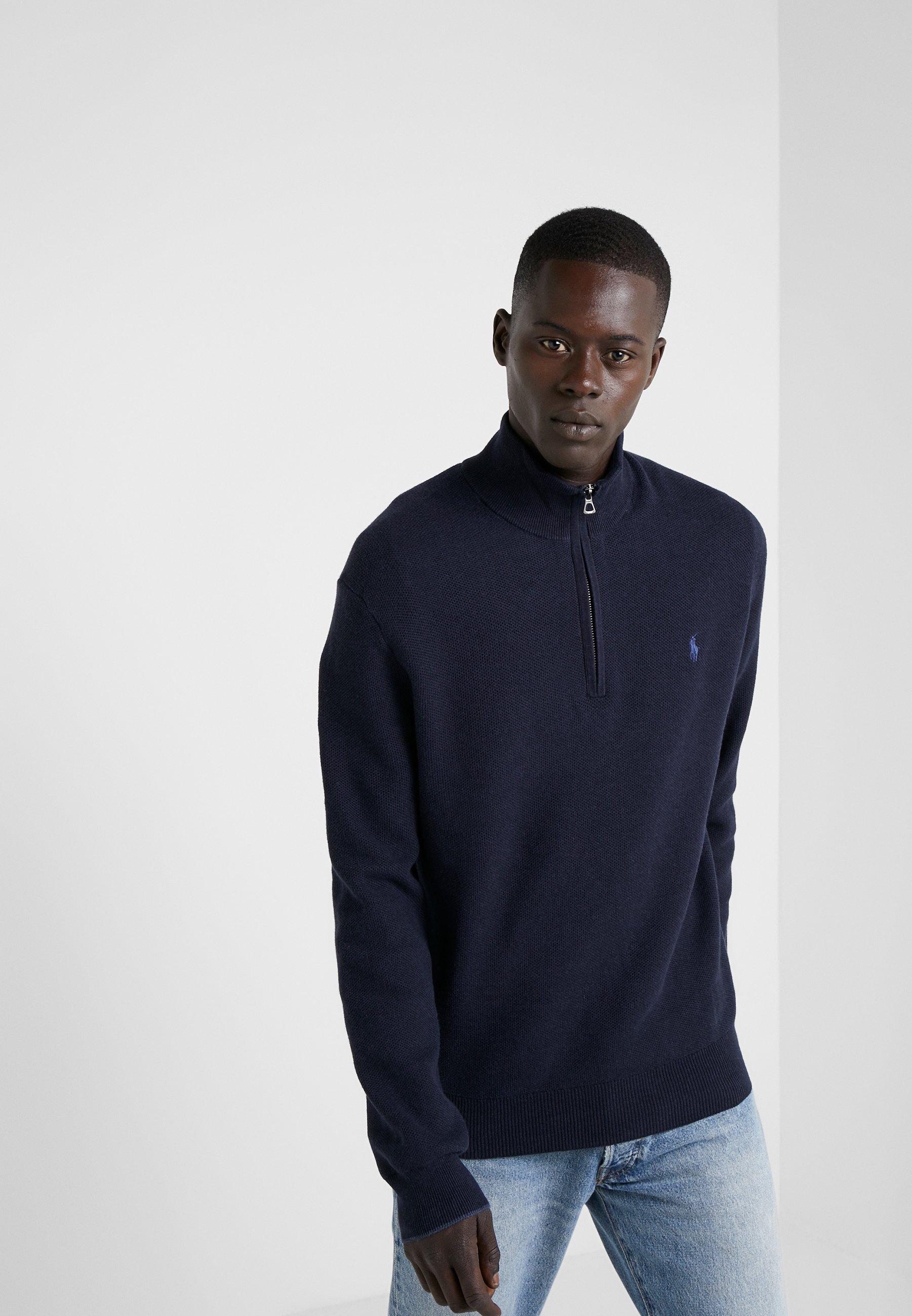 Homme COTTON HALF-ZIP SWEATER - Pullover