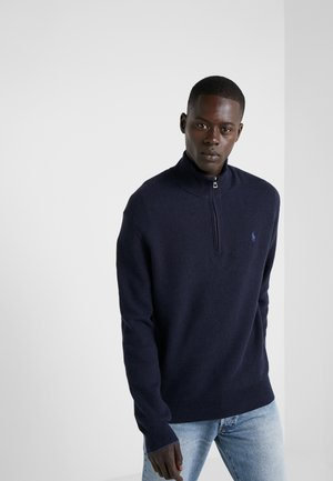 PIMA TEXTURE - Sweter - navy heather