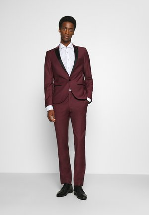 KINGDON SUIT - Oblek - bordeaux