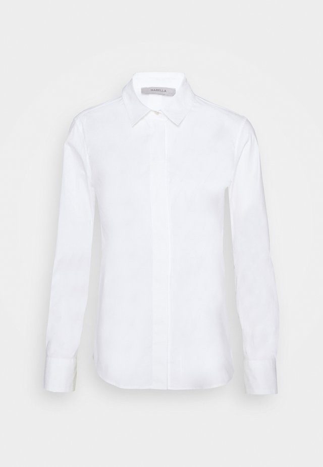 BASKET - Button-down blouse - bianco