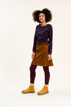 TILLYINA - A-line skirt - braun