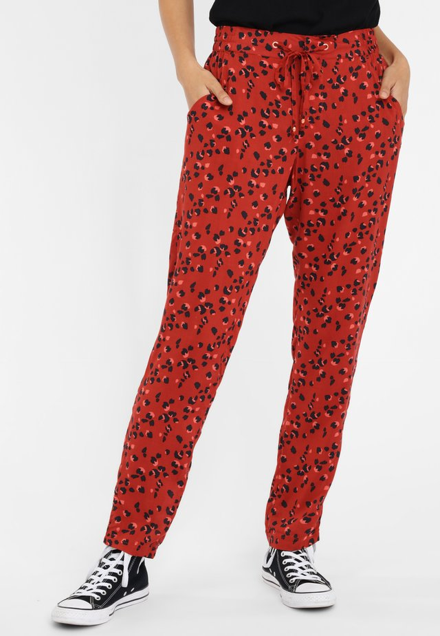 SELBY BEACH  - Pantalon classique - mottled red