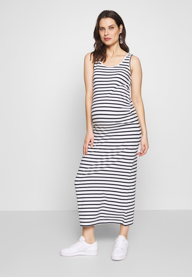 MLLEA ORG TANK MAXI DRESS - Maxi-jurk - snow white/navy blazer