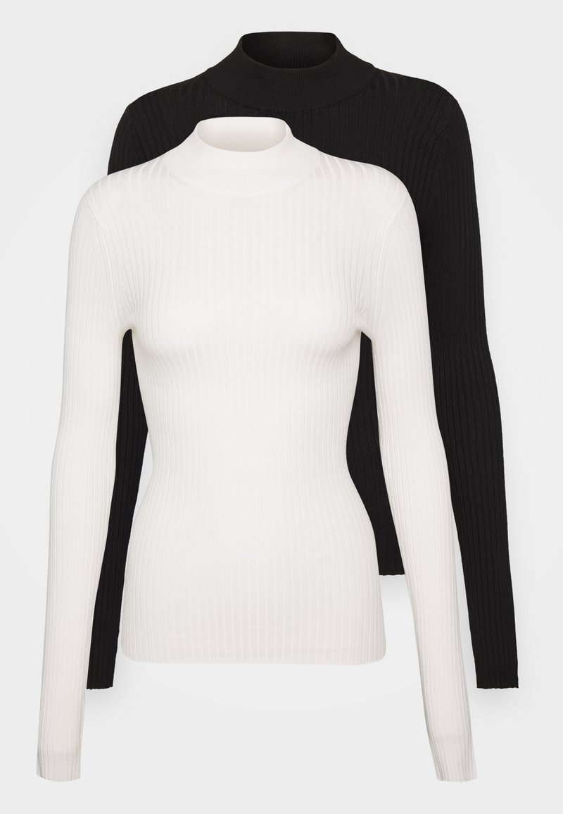 Even&Odd - 2 PACK - Jumper - black/off-white