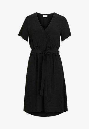 WICKELKLEID KURZÄRMELIGES - Korte jurk - black