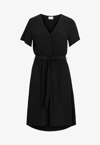 WICKELKLEID KURZÄRMELIGES - Day dress - black