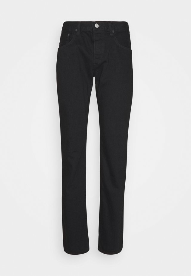 REGULAR TAPERED - Jeans Tapered Fit - black rainbow selvage