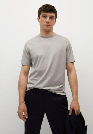 Basic T-shirt - licht/pastelgrijs
