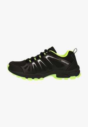 Trainers - black/green