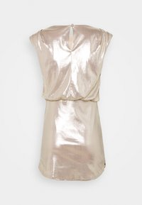 Miss Selfridge - SLEEVELESS METALLIC DRAPE MINI DRESS - Cocktail dress / Party dress - rose gold - 1
