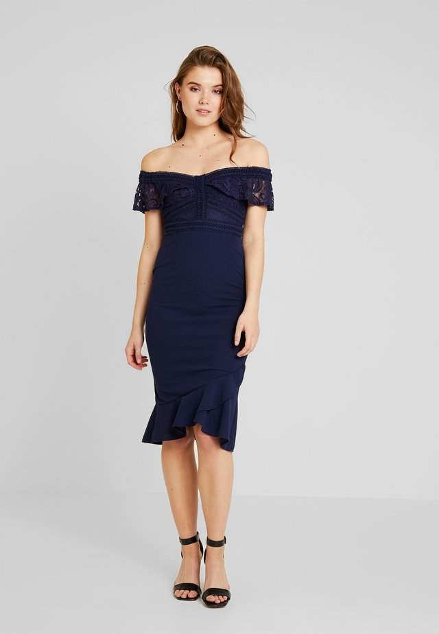 REIGN SUPREME MIDI DRESS - Juhlamekko - navy