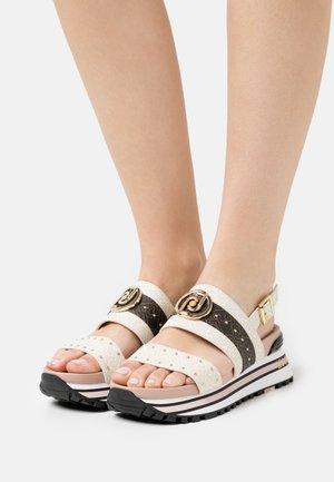 MAXI - Platform sandals - white/milk