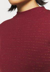 Lee - HI NECK TEE - Long sleeved top - red ochre - 5
