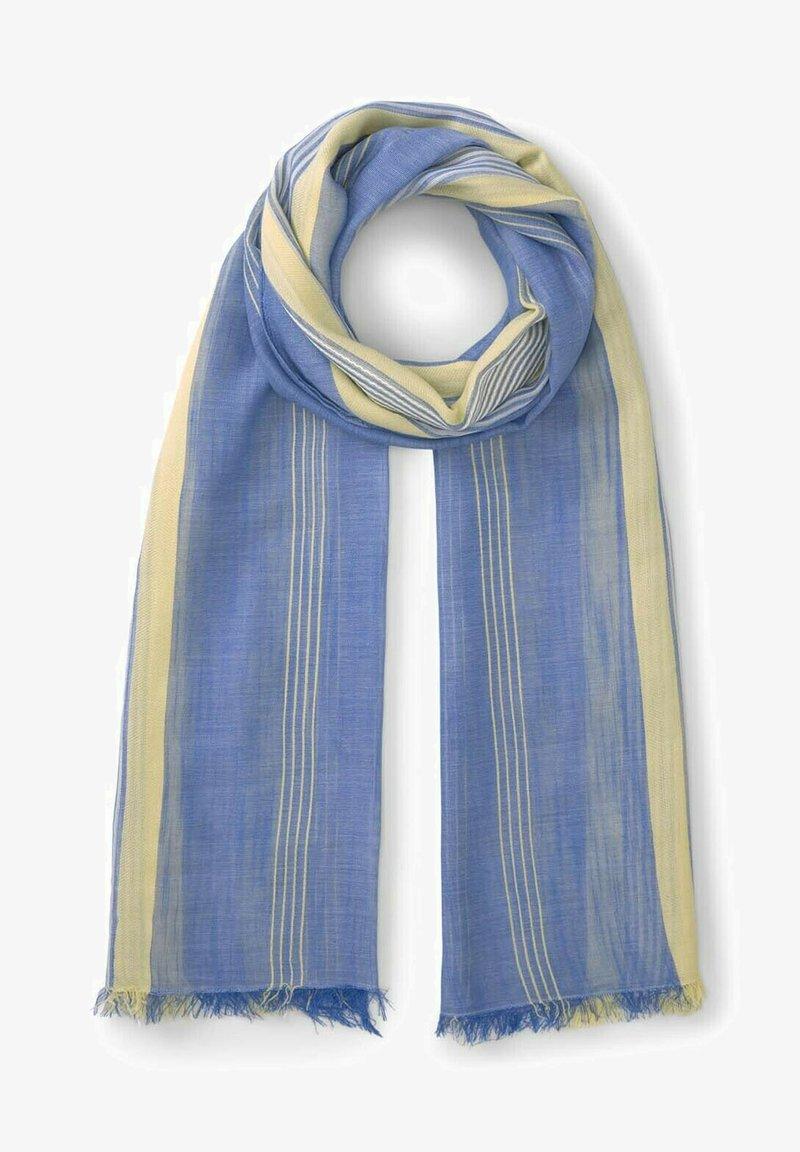 TOM TAILOR DENIM - Scarf - creme yellow structured stripe