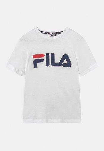 GAIA LOGO TEE UNISEX - Print T-shirt - bright white