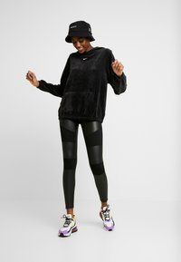 Urban Classics - LADIES FAKE TECH - Leggings - black - 1