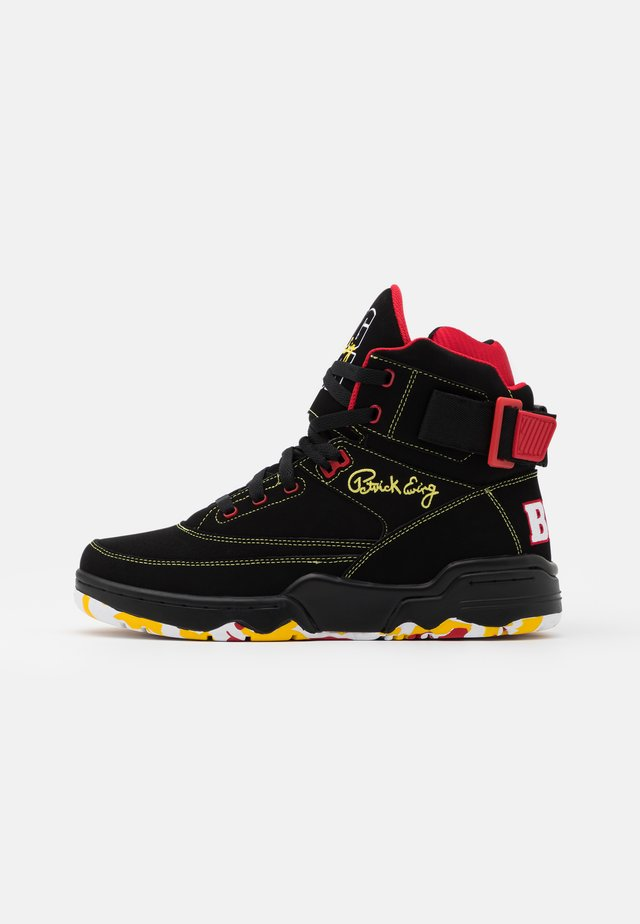 33 BIG PUN - Baskets montantes - black/yellow/red