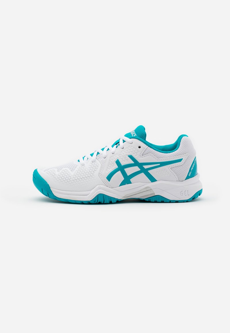 ASICS - GEL-RESOLUTION 8 UNISEX - Multicourt tennis shoes - white/lagoon