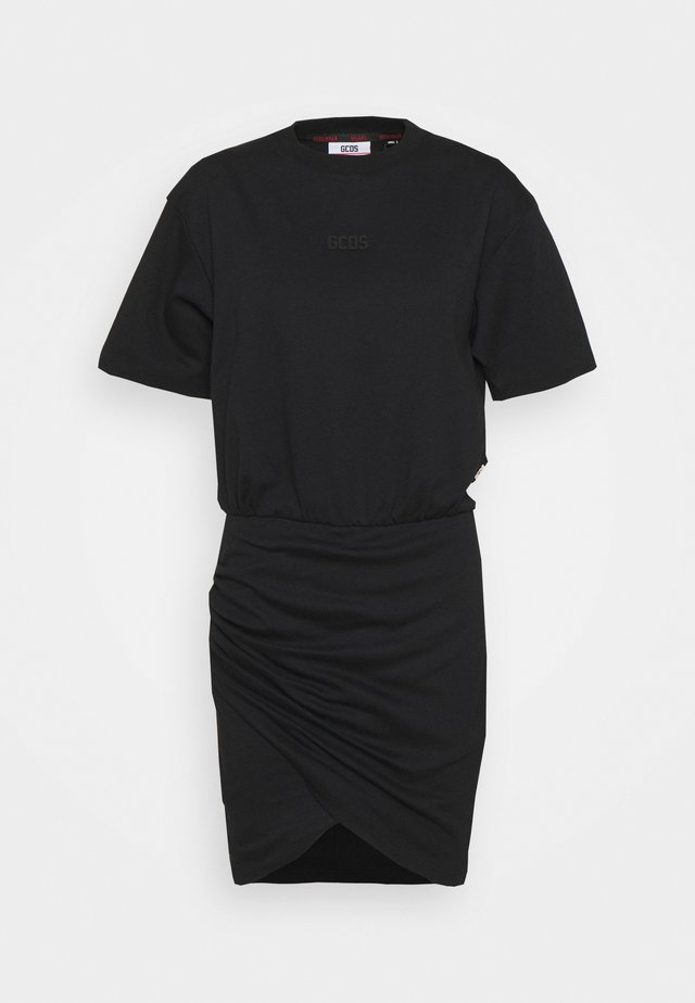 FRUIT WRAPPED DRESS - Jerseyjurk - black
