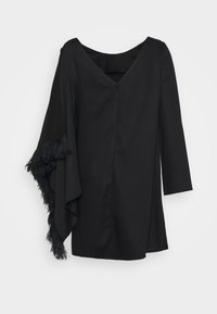 Mother of Pearl - SHORT DRESS WITH V BACK AND DRAPED SLEEVE - Vestido informal - black - 1