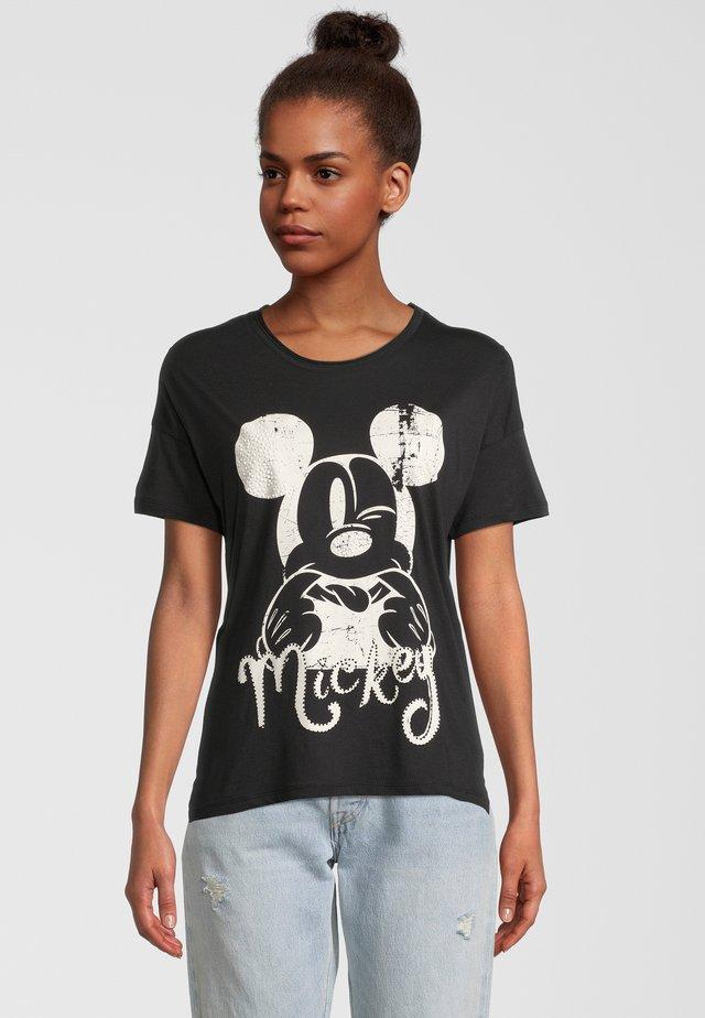 MICKEY - T-shirt con stampa - schwarz