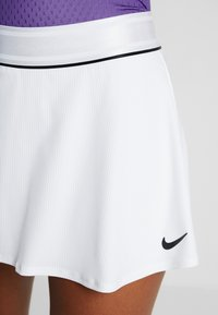 Nike Performance - FLOUNCY SKIRT - Sports skirt - white/black - 3