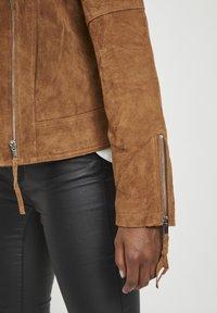 Vila - VICRIS - Leather jacket - brown - 4