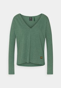 G-Star - CORE STRAIGHT V T WMN L\S - Topper langermet - cosmo green heather - 0