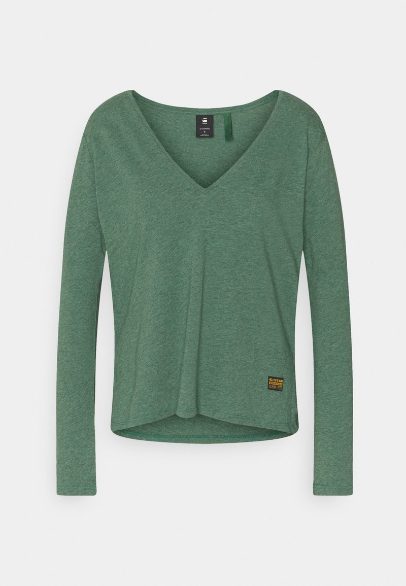 G-Star - CORE STRAIGHT V T WMN L\S - Topper langermet - cosmo green heather