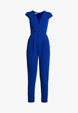 SHORT SLEEVE V NECK - Overal - blue