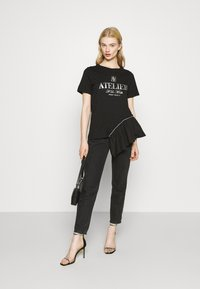 River Island - Print T-shirt - black - 1