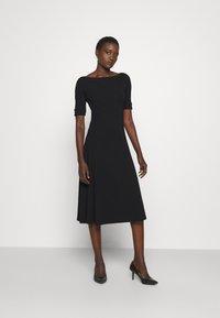 Lauren Ralph Lauren - MUNZIE ELBOW SLEEVE CASUAL DRESS - Jersey dress - black - 1