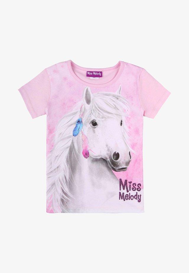 Print T-shirt - pink lady