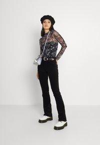 Lee - PRINTED TEE - Long sleeved top - black - 1