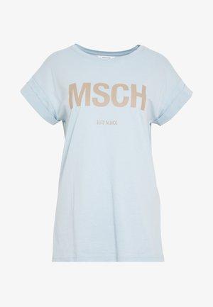 ALVA TEE - Print T-shirt - blue/nougat