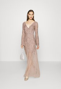 Maya Deluxe - EMBELLISHED V NECK MAXI DRESS - Ballkjole - taupe blush - 1